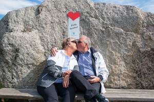 There is also a public kissing bench at Verdens Ende, probably Bring Your Own. Photo credit: visitvestfold.com