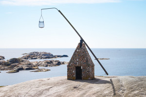 Tipping lighthouse at Verdens Ende (End of the World)